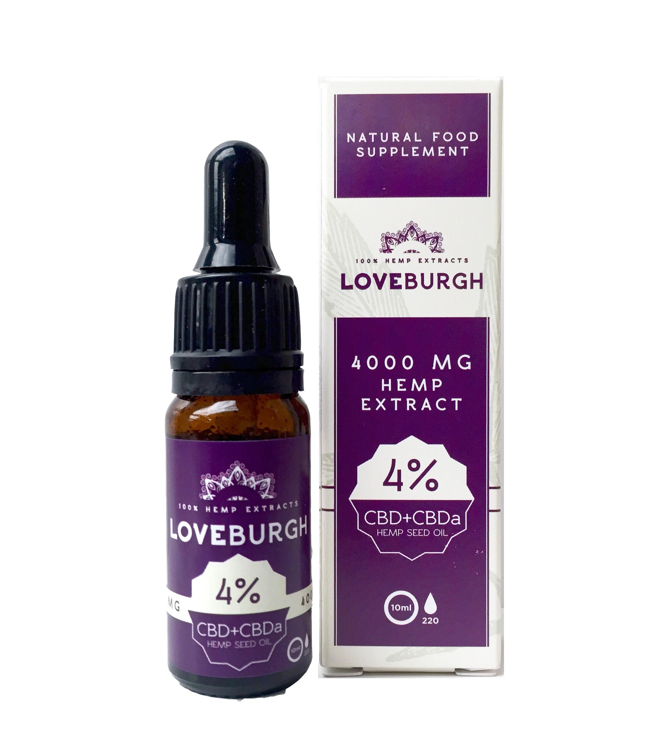 LOVEBURGH CBD SUPPLEMENT - 4% CBD + CBDa