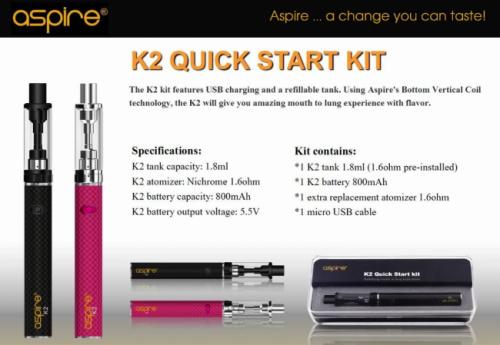Aspire - K2 Starter Kit (Pink)