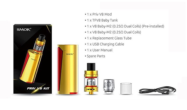 SMOK - PRIV V8 KIT with BABY TANK