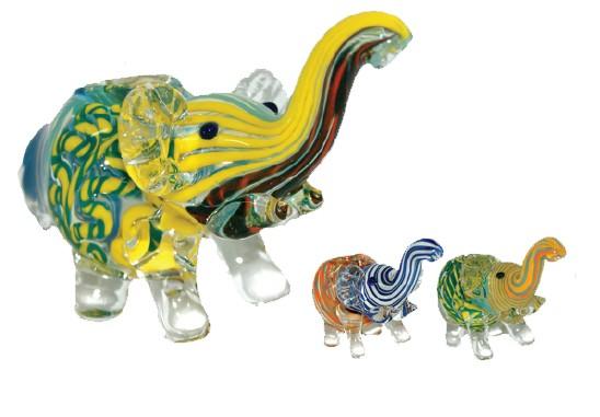 GLASS ELEPHANT PIPE