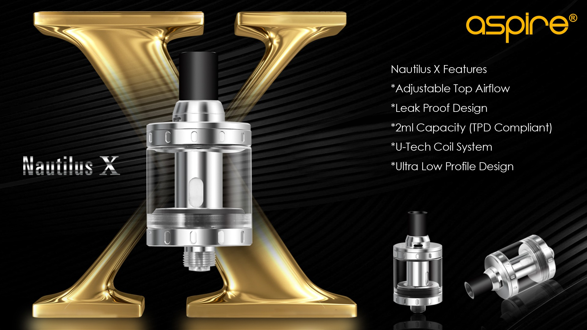 ASPIRE - NAUTILUS X (UK) TANK (BLACK)