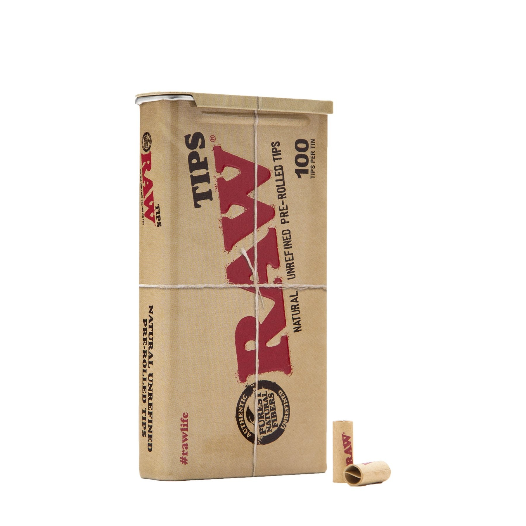 RAW - PRE-ROLLED TIPS TIN