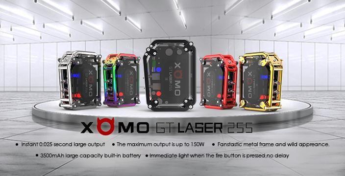 Xomo GT Laser 255 S Box Mod - Gold