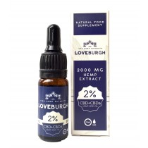 LOVEBURGH CBD SUPPLEMENT - 2% CBD + CBDa