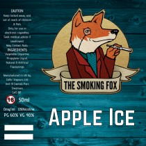 THE SMOKING FOX 50ml SHORTFILL - APPLE ICE