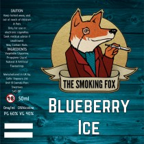 THE SMOKING FOX 50ml SHORTFILL - BLUEBERRY ICE