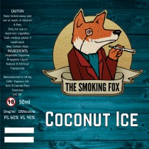 THE SMOKING FOX 50ml SHORTFILL - COCONUT ICE