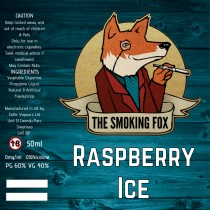 THE SMOKING FOX 50ml SHORTFILL - RASPBERRY ICE