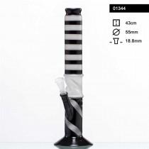 BLACKnWHITE STRIPED BONG - 01343