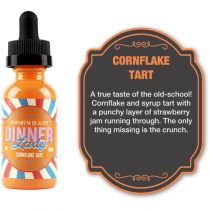 DINNER LADY ELIQUID - CORNFLAKE TART - 0mg / 60ml BOTTLE