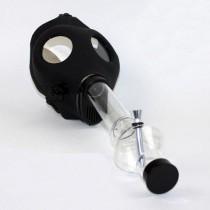 GAS MASK BONG w. CLEAR BONG